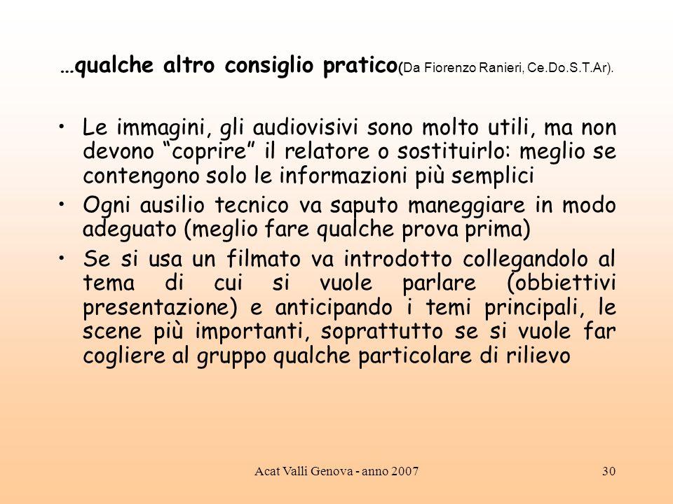 …qualche altro consiglio pratico(Da Fiorenzo Ranieri, Ce.Do.S.T.Ar).