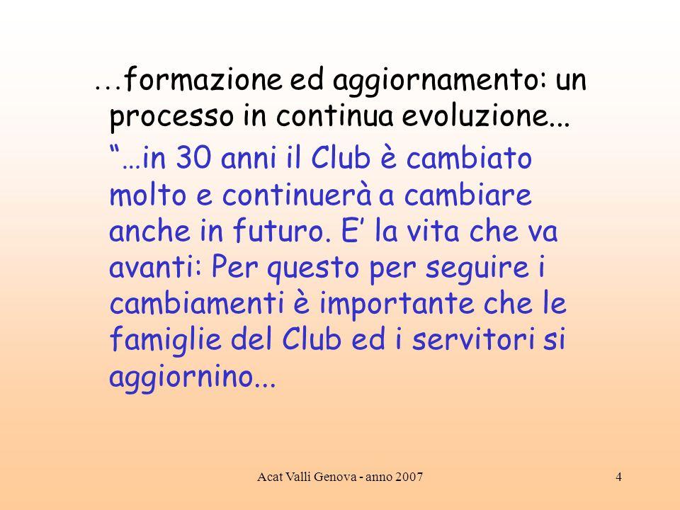 …formazione ed aggiornamento: un processo in continua evoluzione...