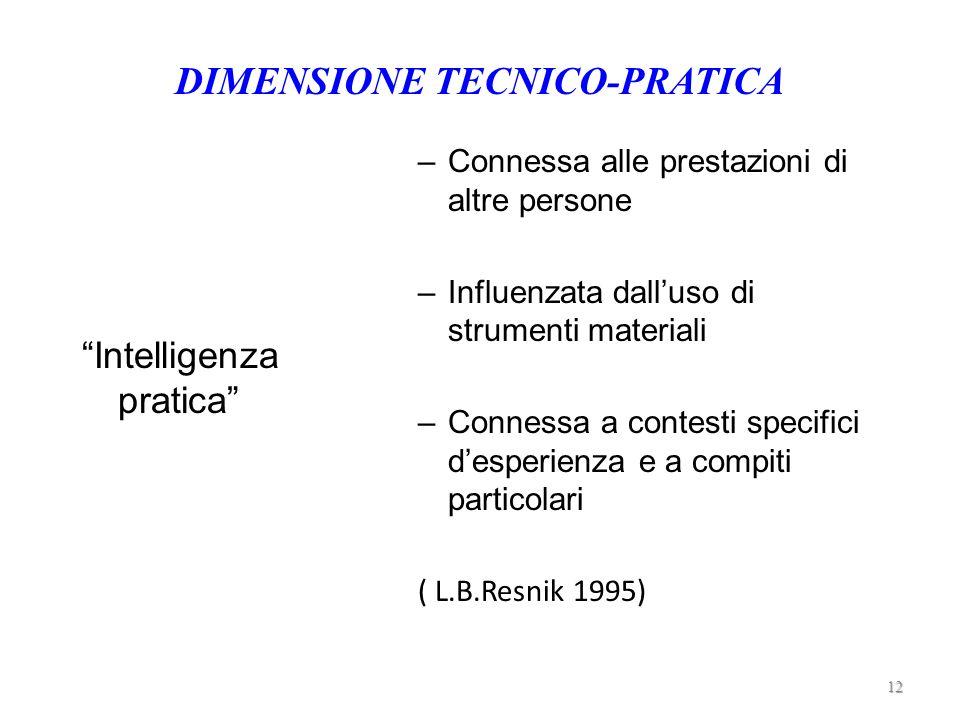 DIMENSIONE TECNICO-PRATICA