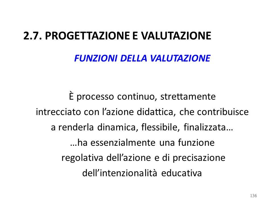 2.7. PROGETTAZIONE E VALUTAZIONE