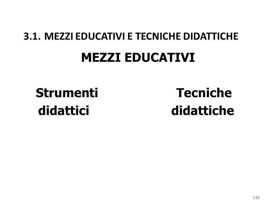 3.1. MEZZI EDUCATIVI E TECNICHE DIDATTICHE