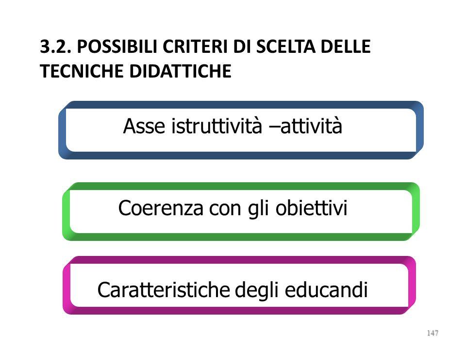 3.2. POSSIBILI CRITERI DI SCELTA DELLE TECNICHE DIDATTICHE