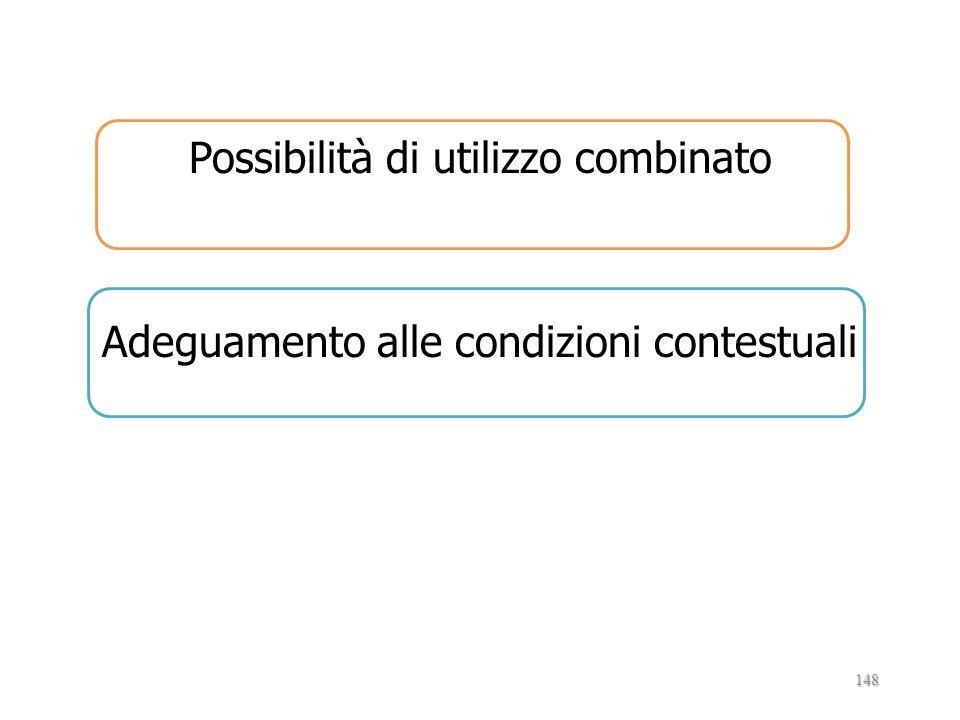 Possibilità di utilizzo combinato Adeguamento alle condizioni contestuali