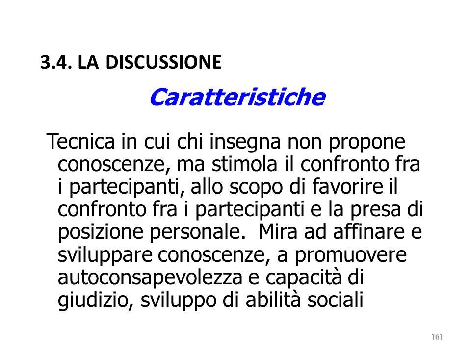 Caratteristiche 3.4. LA DISCUSSIONE