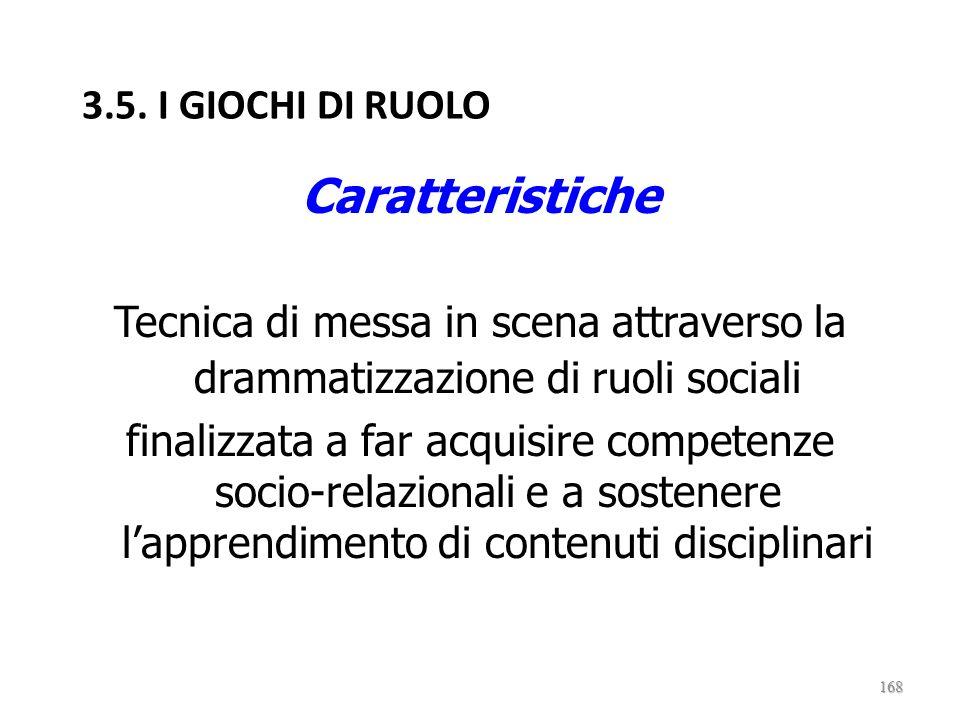 Caratteristiche 3.5. I GIOCHI DI RUOLO