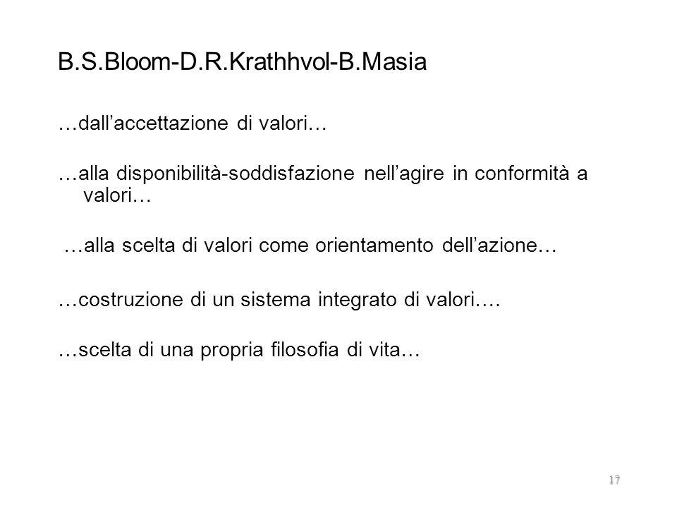 B.S.Bloom-D.R.Krathhvol-B.Masia