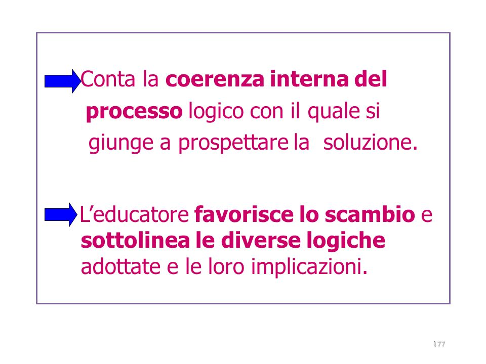 Conta la coerenza interna del processo logico con il quale si giunge a prospettare la soluzione.