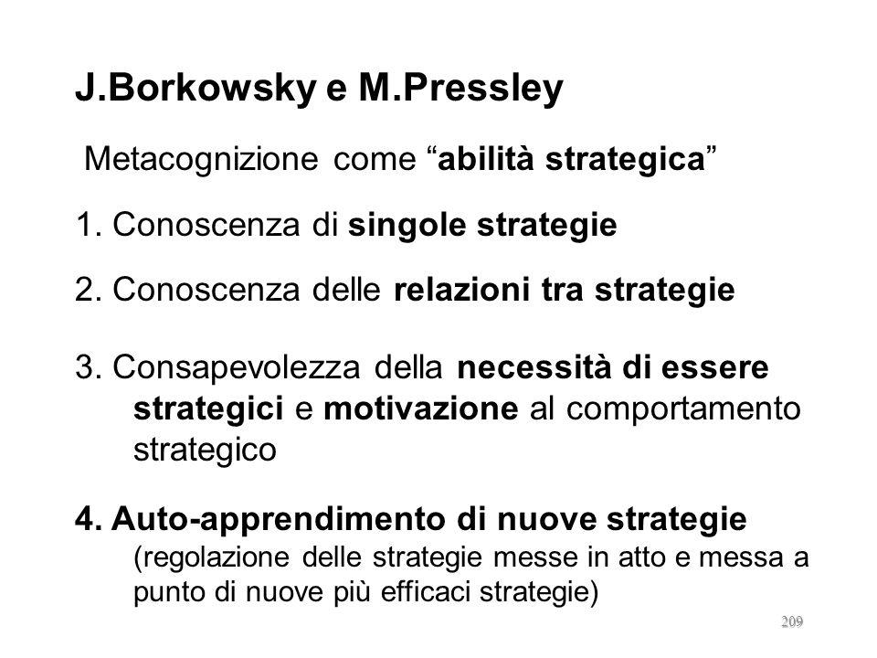 J.Borkowsky e M.Pressley