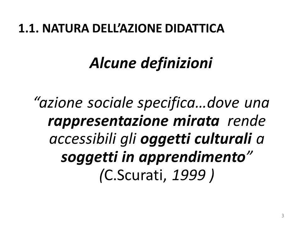 1.1. NATURA DELL'AZIONE DIDATTICA