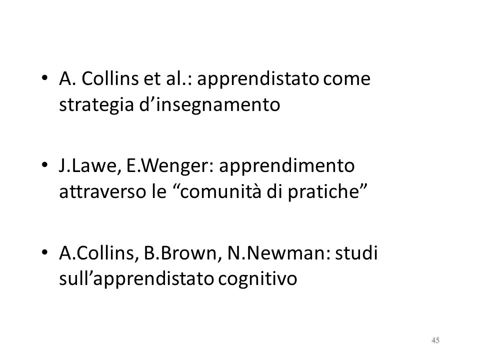 A. Collins et al.: apprendistato come strategia d'insegnamento