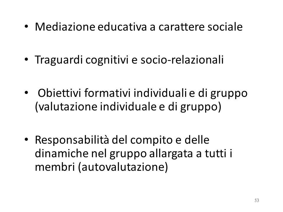 Mediazione educativa a carattere sociale