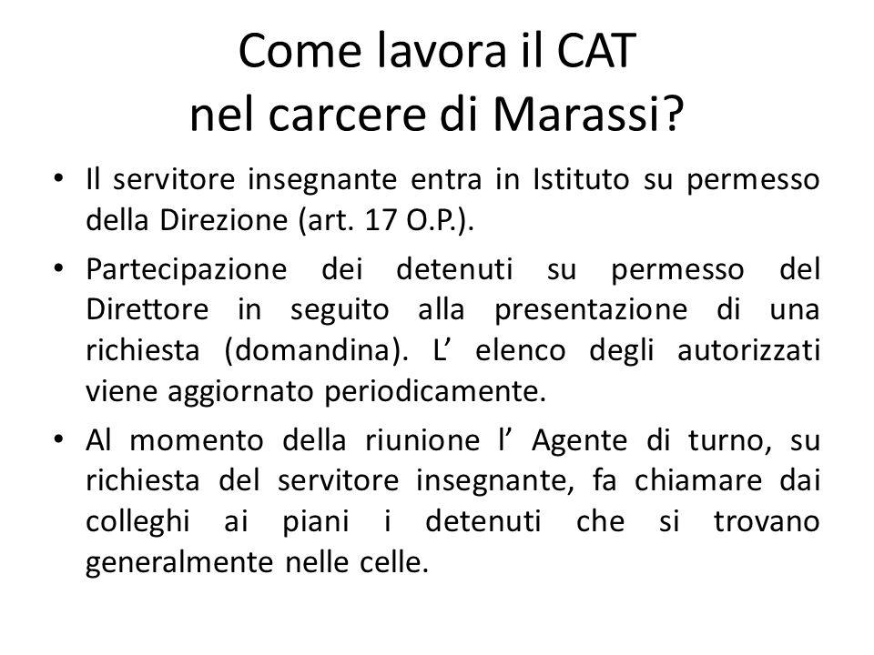Come lavora il CAT nel carcere di Marassi