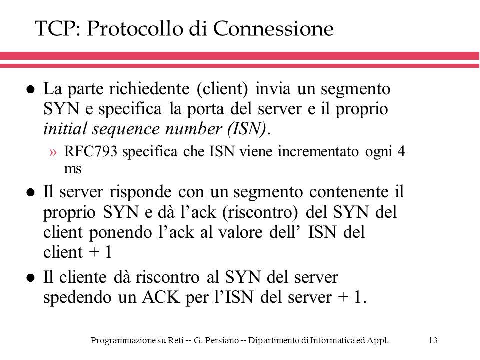 TCP: Protocollo di Connessione