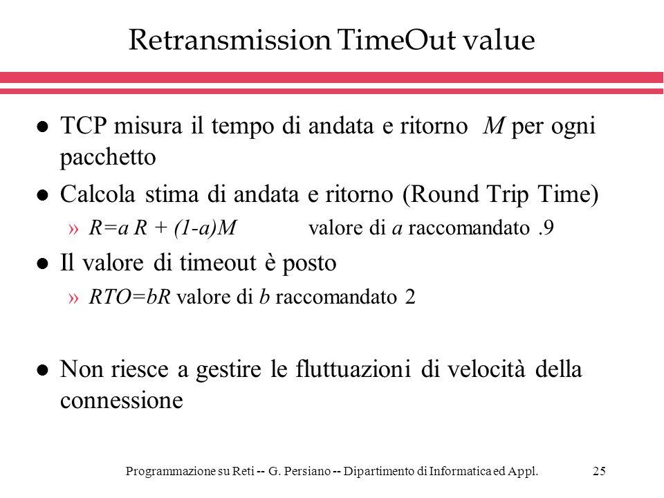 Retransmission TimeOut value