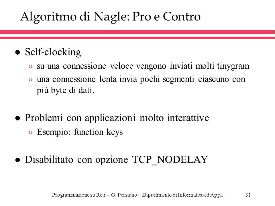 Algoritmo di Nagle: Pro e Contro