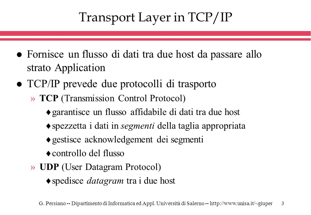 Transport Layer in TCP/IP