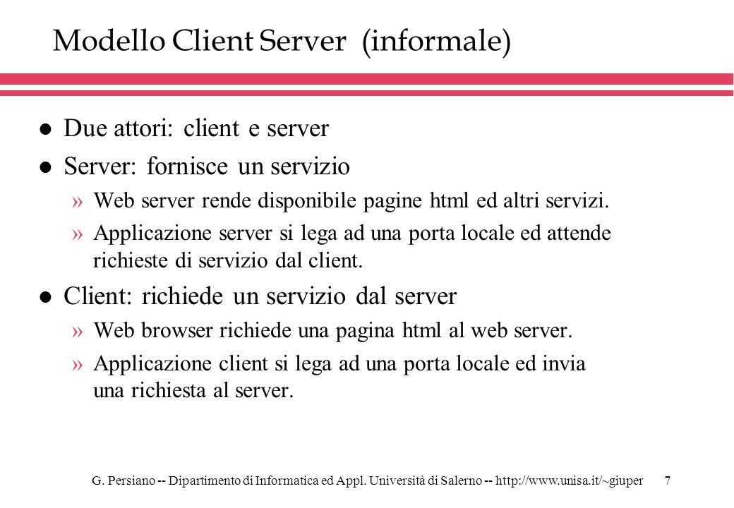 Modello Client Server (informale)