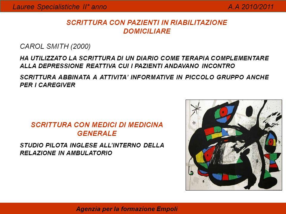 Lauree Specialistiche II° anno A.A 2010/2011