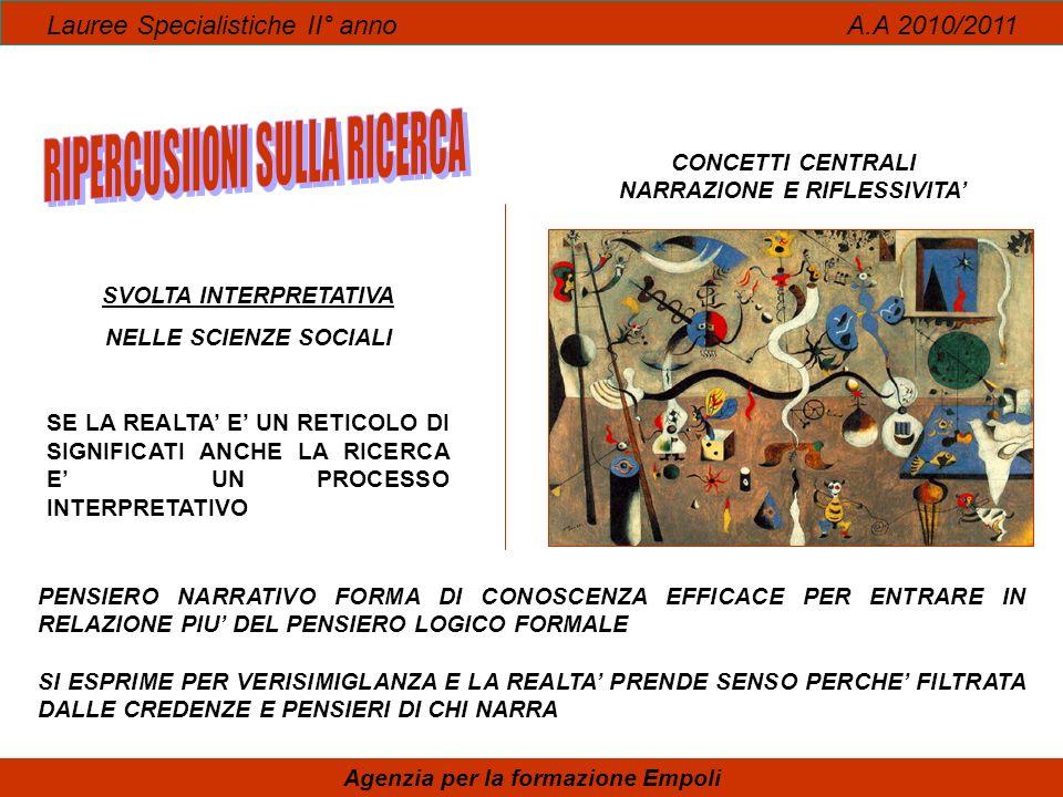 RIPERCUSIIONI SULLA RICERCA DONNE E CURA