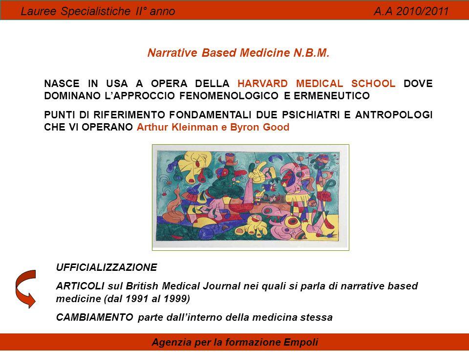 Narrative Based Medicine N.B.M. Agenzia per la formazione Empoli