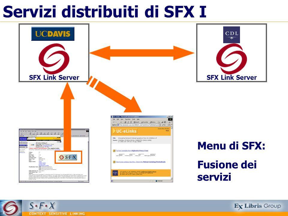 Servizi distribuiti di SFX I
