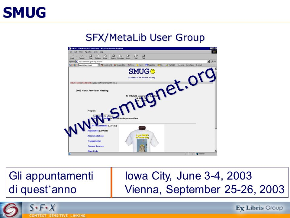 SFX/MetaLib User Group