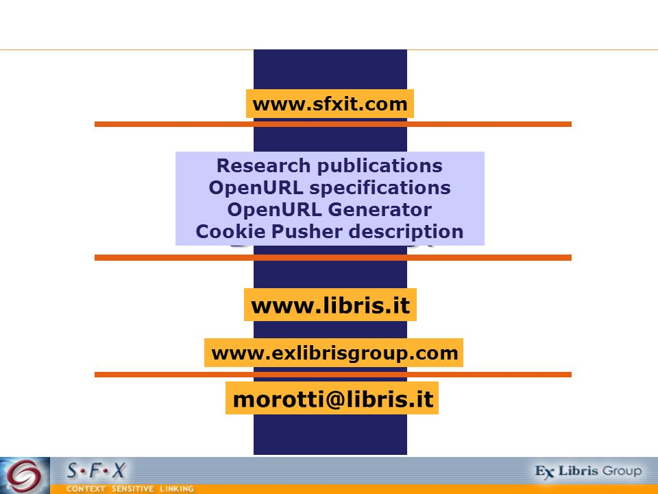 Research publications OpenURL specifications Cookie Pusher description