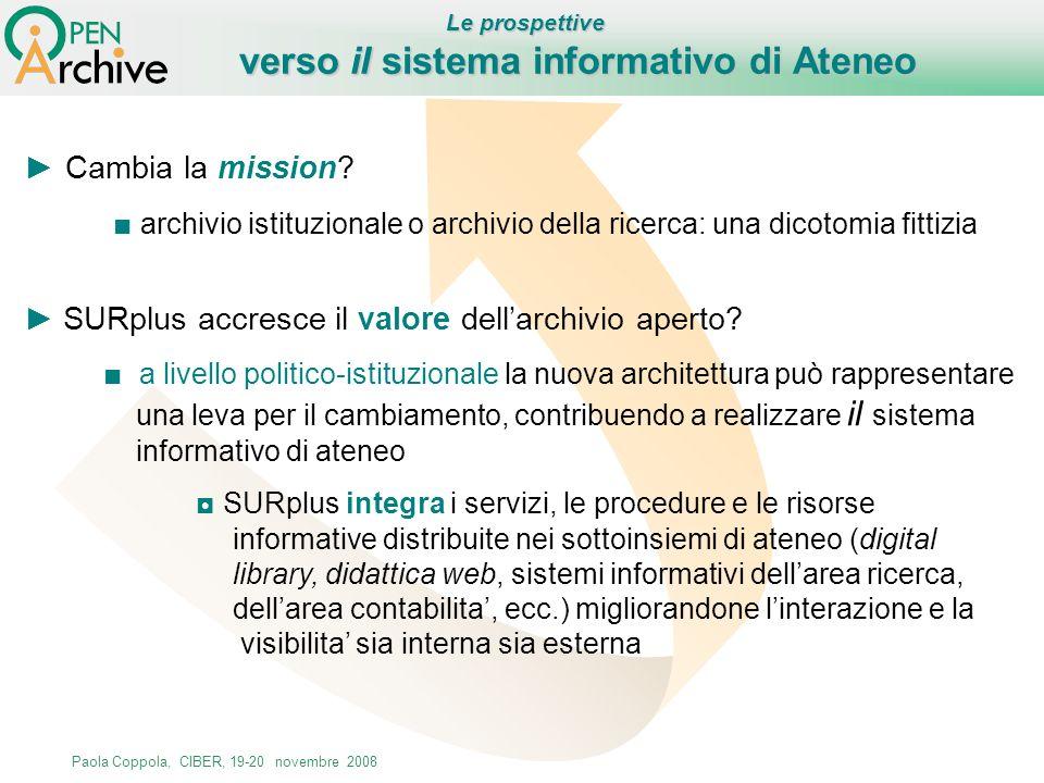 verso il sistema informativo di Ateneo