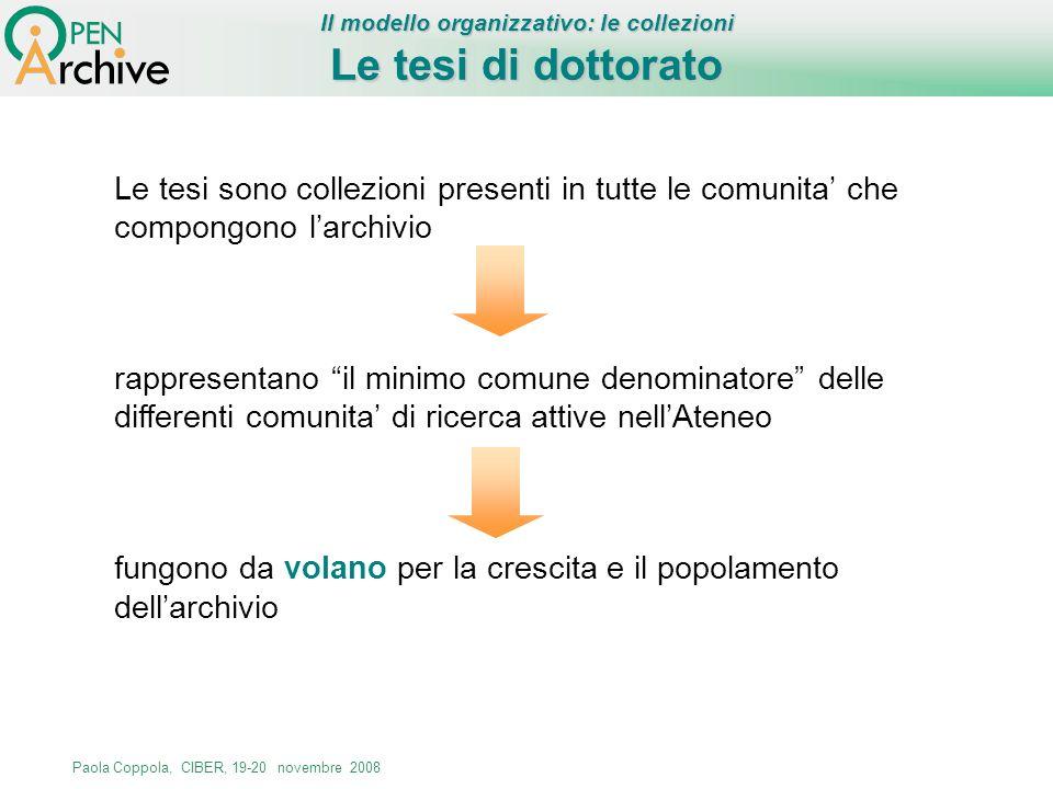 Il modello organizzativo: le collezioni