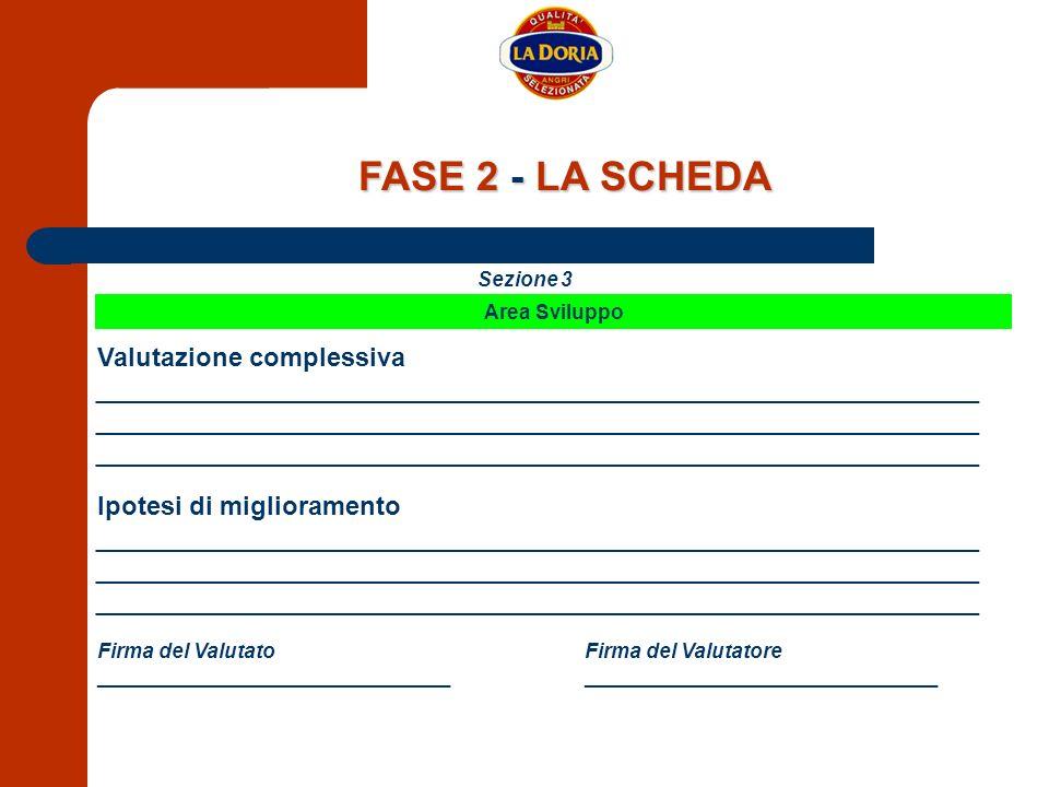 FASE 2 - LA SCHEDA Valutazione complessiva