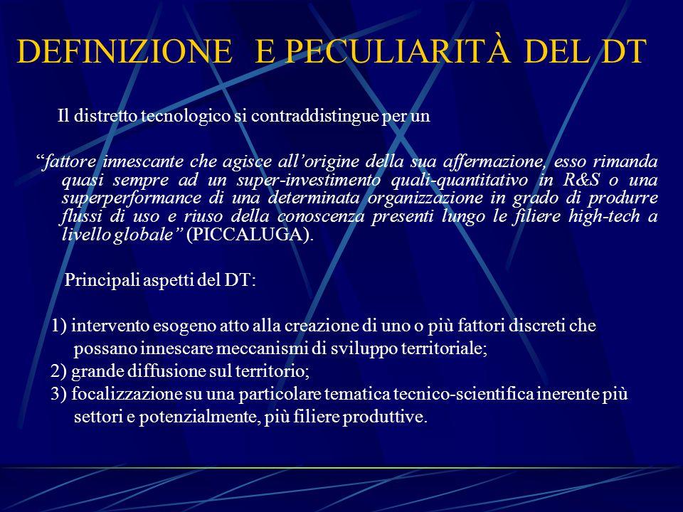 DEFINIZIONE E PECULIARITÀ DEL DT