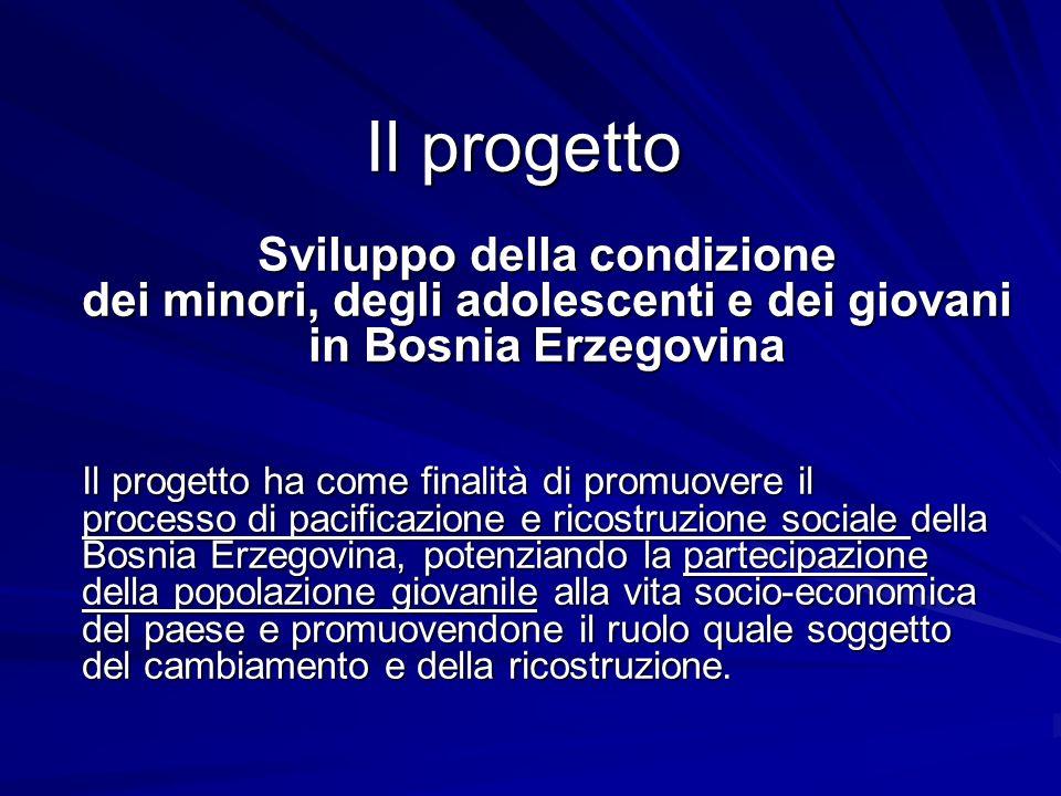 Il progetto Sviluppo della condizione dei minori, degli adolescenti e dei giovani in Bosnia Erzegovina.