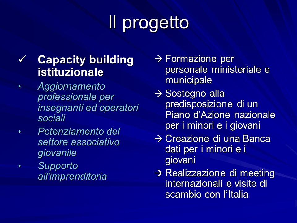 Il progetto Capacity building istituzionale