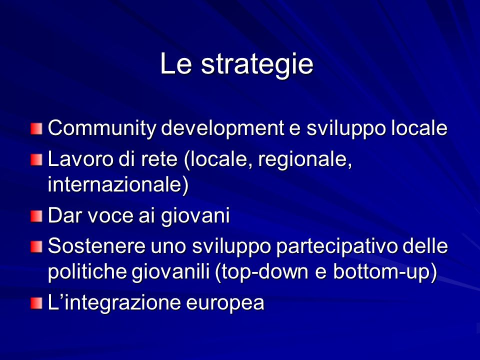 Le strategie Community development e sviluppo locale