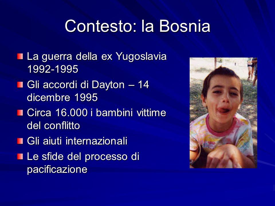 Contesto: la Bosnia La guerra della ex Yugoslavia 1992-1995