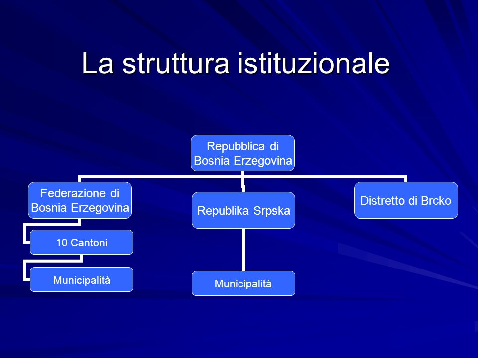 La struttura istituzionale