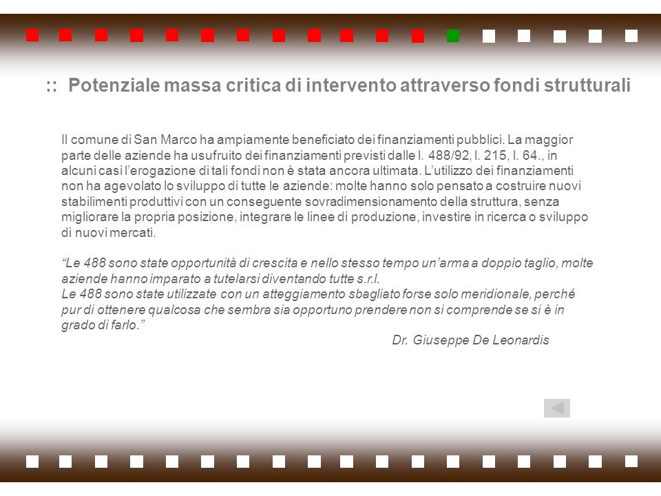 :: Potenziale massa critica di intervento attraverso fondi strutturali