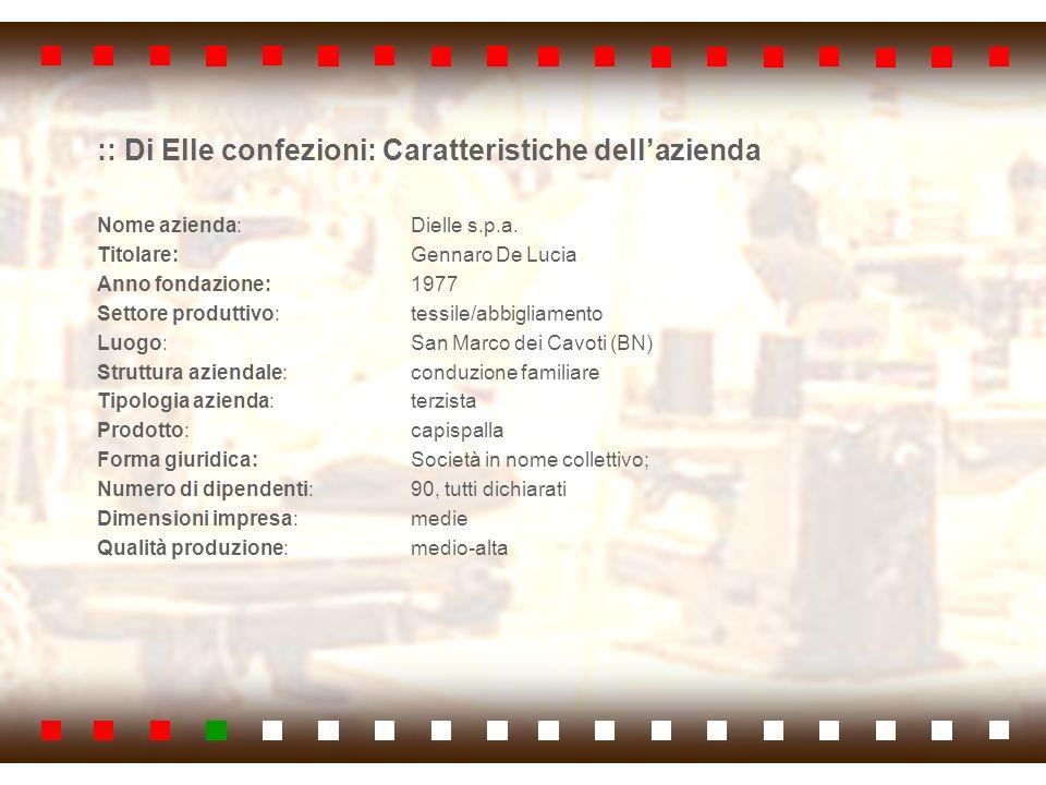 :: Di Elle confezioni: Caratteristiche dell'azienda