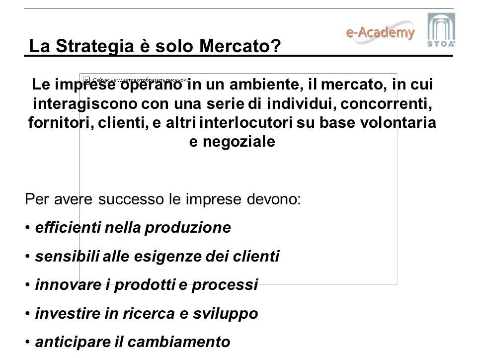 La Strategia è solo Mercato