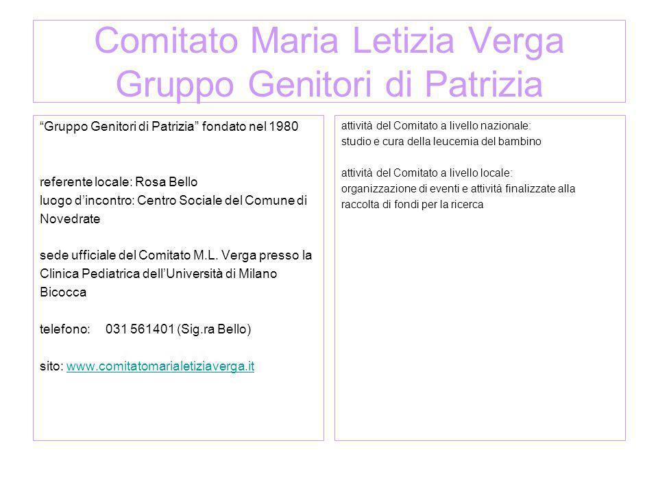 Comitato Maria Letizia Verga Gruppo Genitori di Patrizia