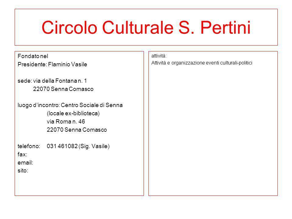Circolo Culturale S. Pertini