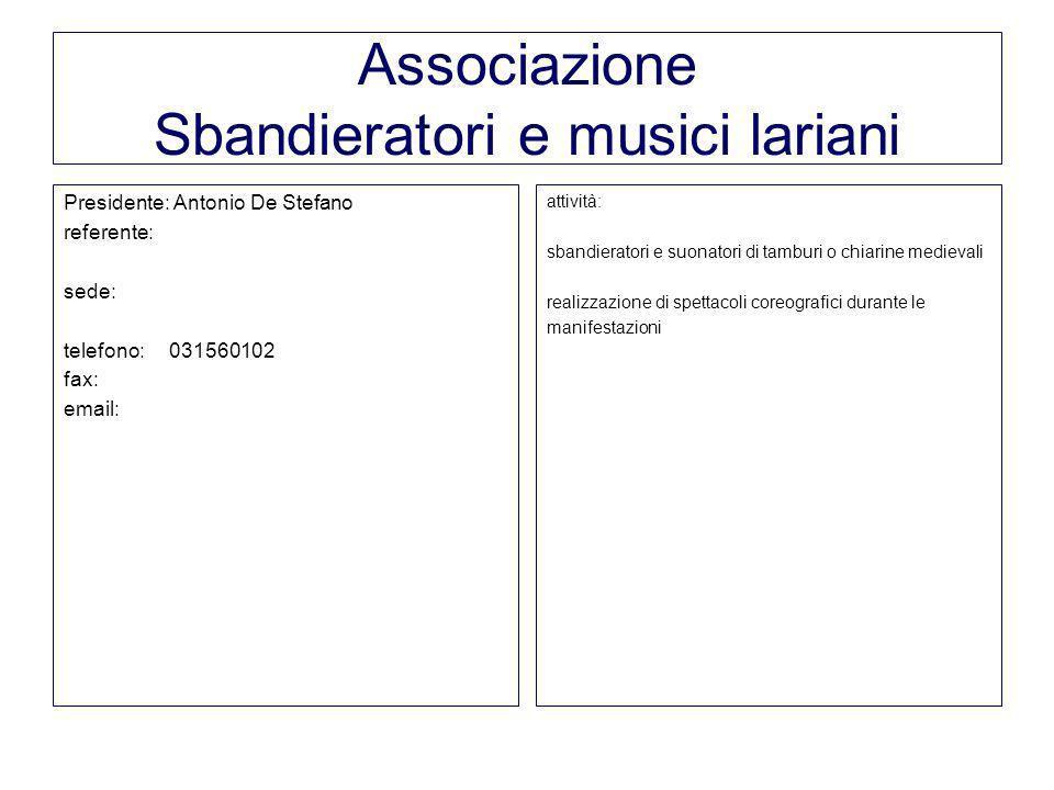 Associazione Sbandieratori e musici lariani