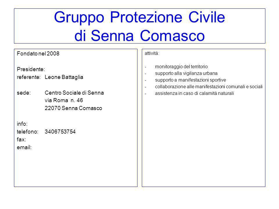 Gruppo Protezione Civile di Senna Comasco