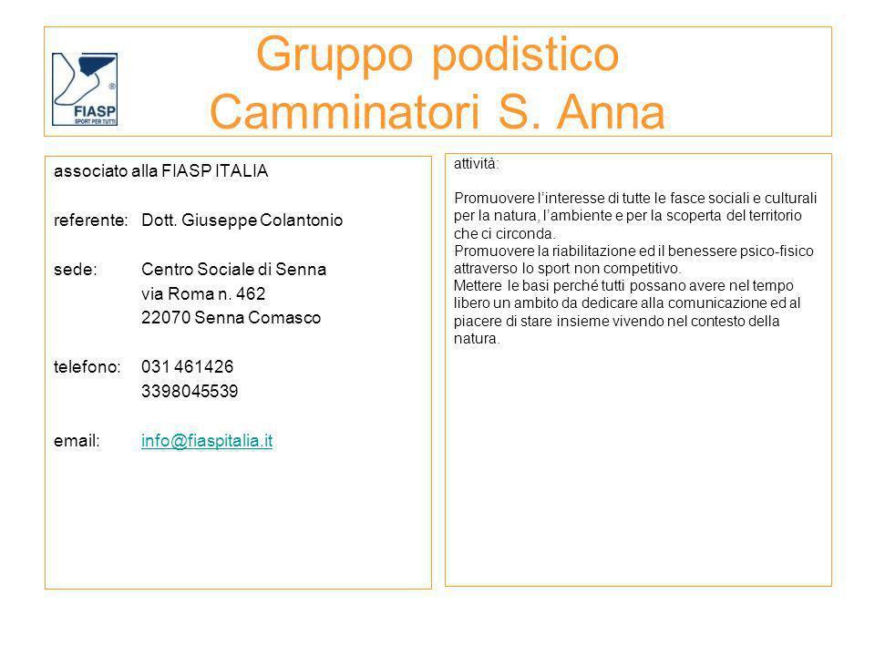 Gruppo podistico Camminatori S. Anna