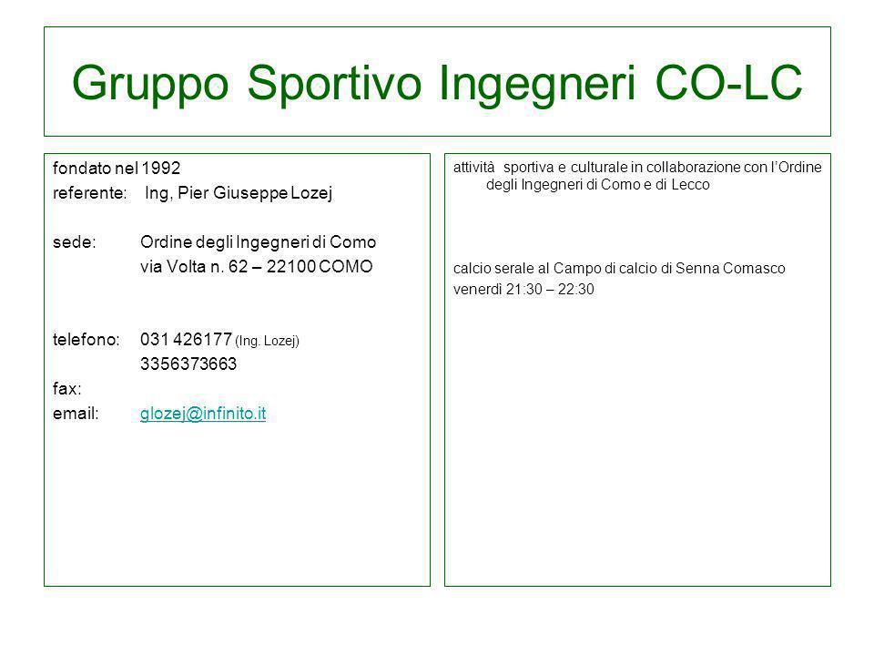 Gruppo Sportivo Ingegneri CO-LC