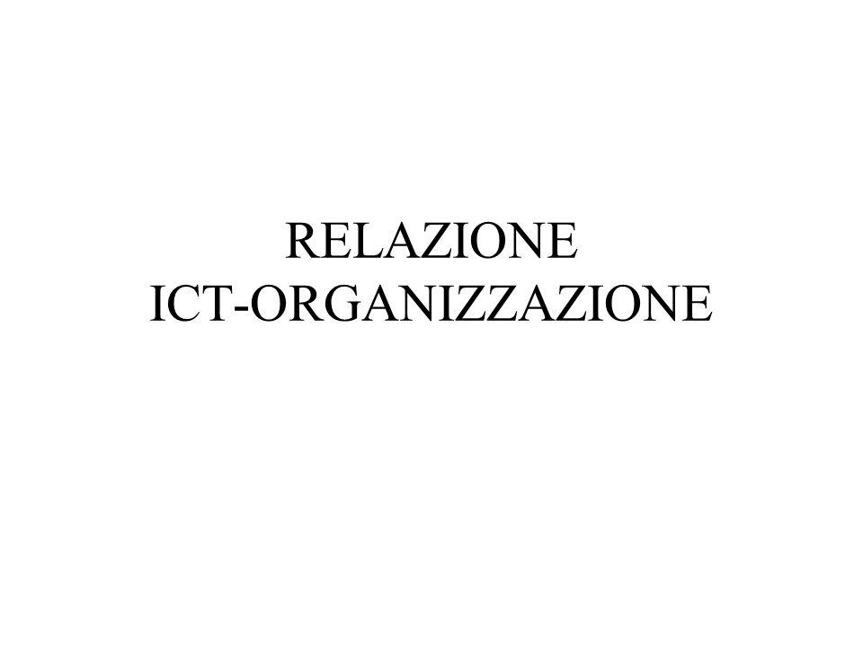 RELAZIONE ICT-ORGANIZZAZIONE