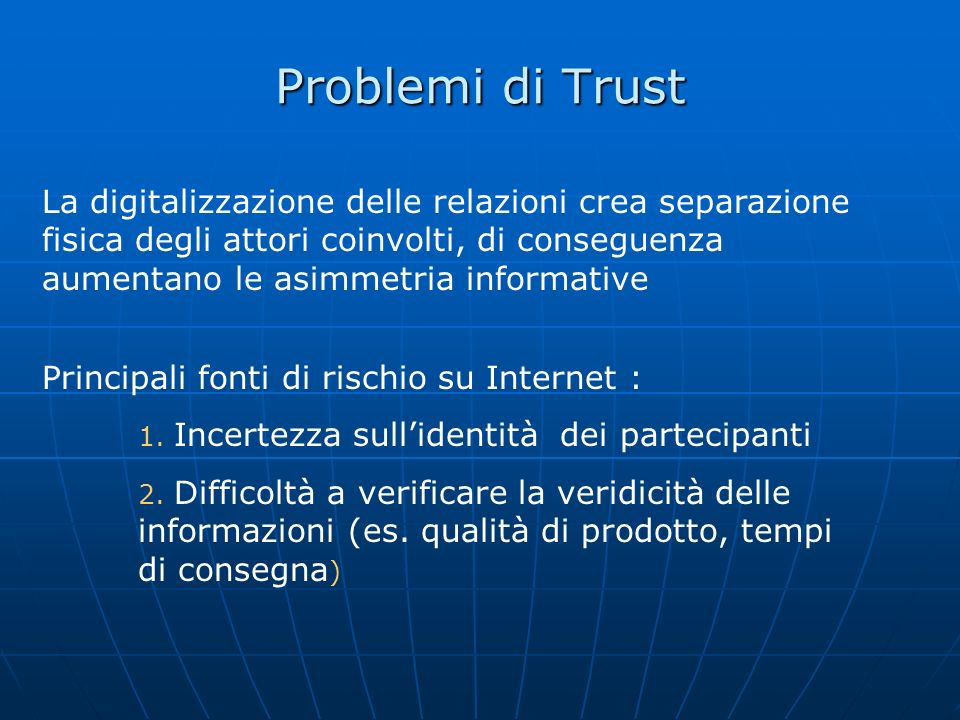 Problemi di Trust