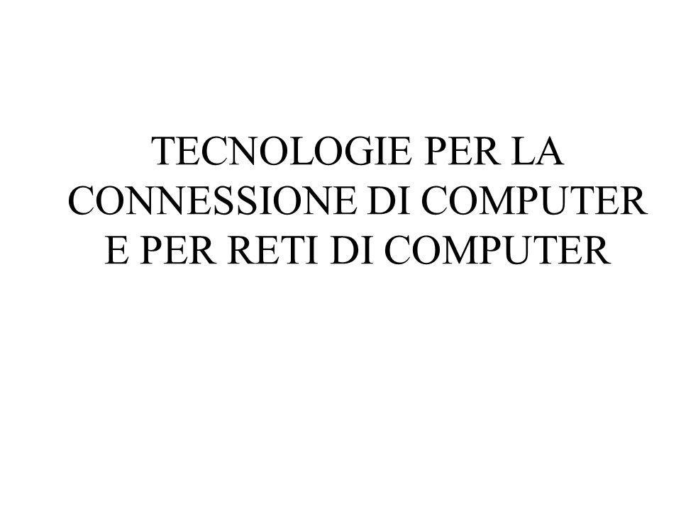 TECNOLOGIE PER LA CONNESSIONE DI COMPUTER E PER RETI DI COMPUTER
