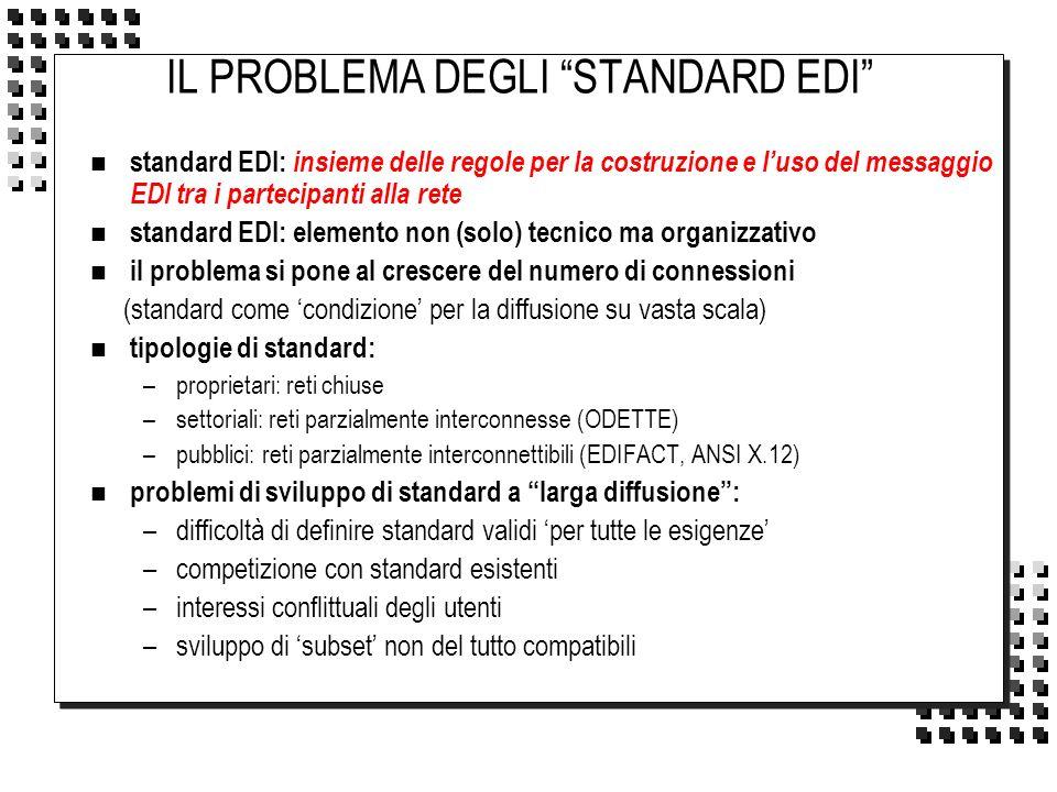 IL PROBLEMA DEGLI STANDARD EDI