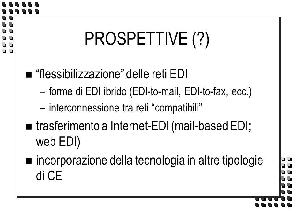 PROSPETTIVE ( ) flessibilizzazione delle reti EDI